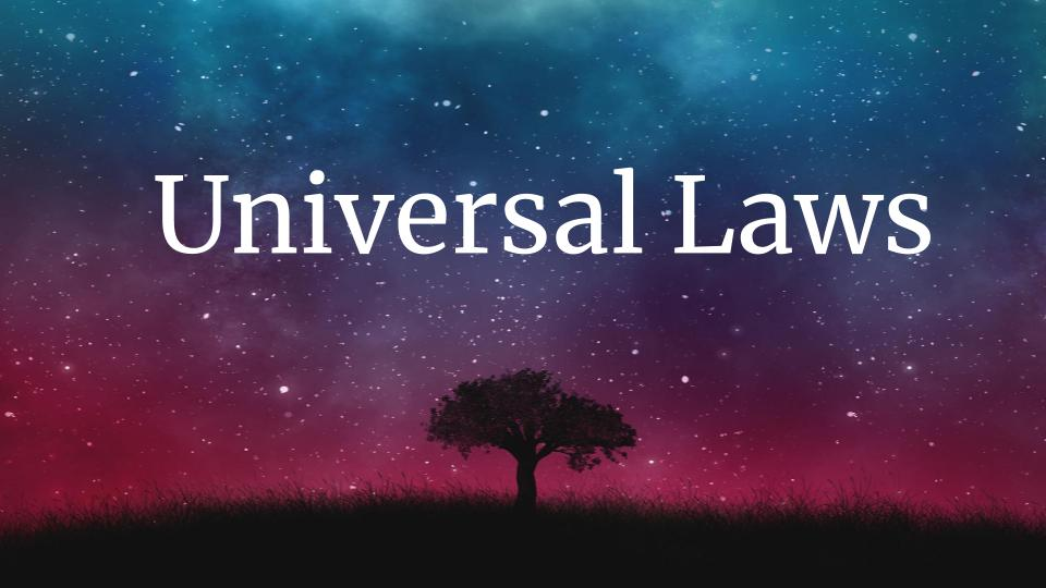 Universal Laws Blog Meme